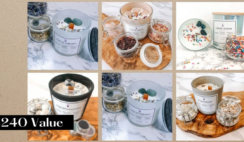 The Calming Oasis Crystal Candle Giveaway