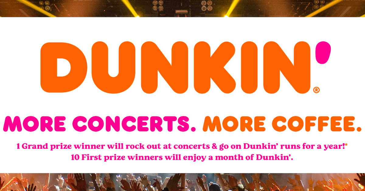 The Concerts and Coffee for a Year Sweepstakes