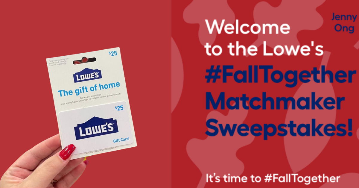 The Lowes FallTogether Matchmaker Sweepstakes