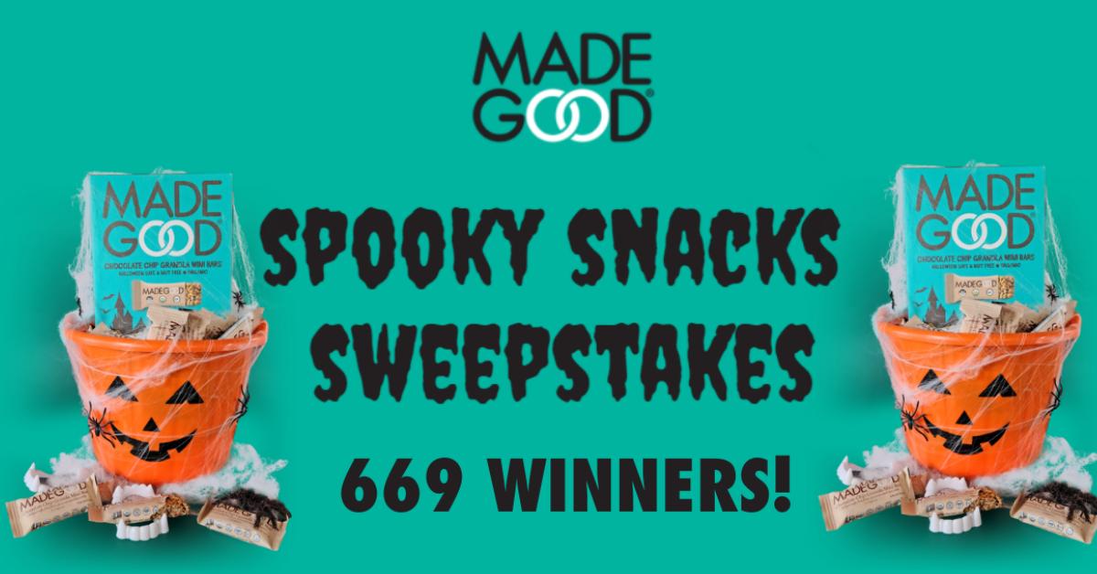 $5K MadeGood Spooky Snacks Sweepstakes
