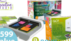 Accuquilt GO Big Electric Fabric Cutter Starter Set Giveaway