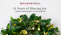 Balsam Hill's 15 Years of Sharing Joy Anniversary Giveaway